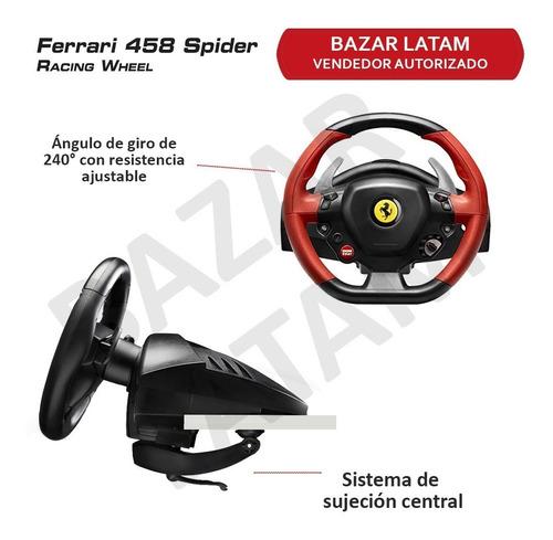 volante y pedales xbox one thrustmaster ferrari 458 spider