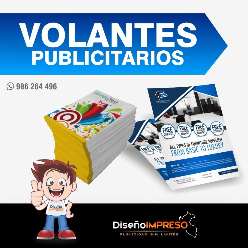 volantes flyer imprenta delivery diseño gratis s 8 00 en