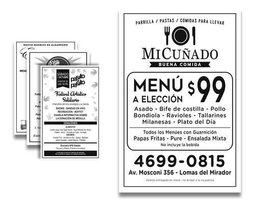 volantes/ folletos blanco y negro en 48hs 10x15cm