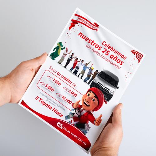 volantes publicitarios - flyer  full color