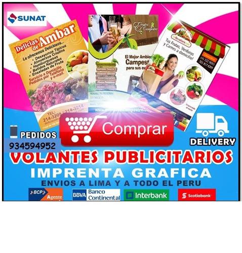 volantes publicitarios  s/. 60