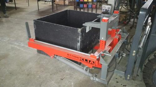 volcador cajones bin (bins tipper) p/ autoelevador - tractor