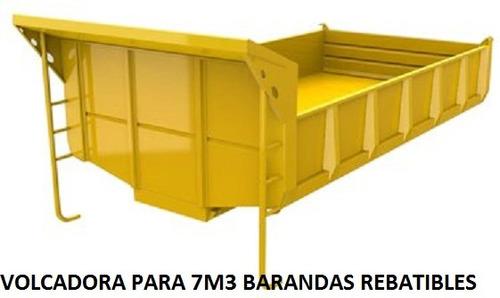 volcadora 7m3 rebatible carga 6.5t  m. cummins + iva