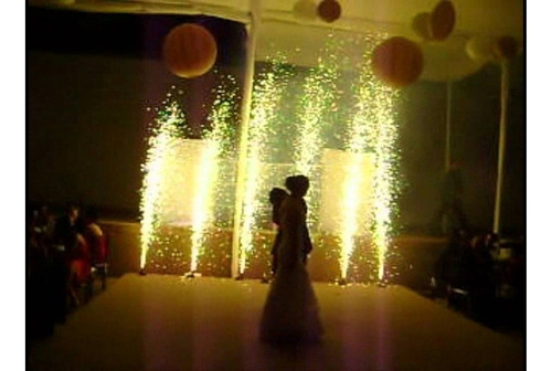 volcanes eléctricos fríos tipo bengala para fiestas evento 1