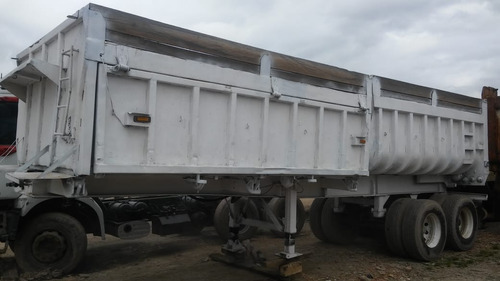 volco doble volteo dos ejes trailer