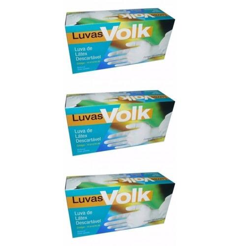 volk luvas p/ procedimentos látex p c/100 (kit c/03)
