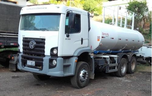 volkswagem 31-320 6x4 ano 2008/2008 tanque pipa gascom