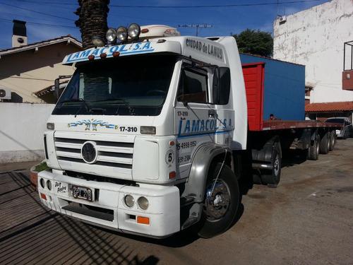 volkswagen 17 310 cab/dormi hidraulico para batea muy bueno
