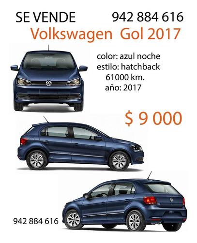 volkswagen 2017 gol hatchback azul noche