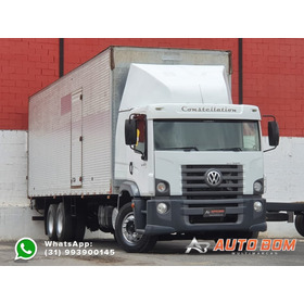 Volkswagen 24.250 6x2 Truck C/ Baú De 9,8m (73m³) E Platafor