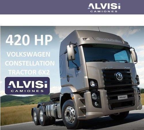 volkswagen 25-420 camión tractor doble eje 420 hp + iva