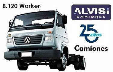 volkswagen 8.120 workwer c/ furgón de fábrica 0k