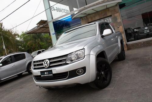 volkswagen amarok highline pack 4x4 t- diesel 2012 plateada