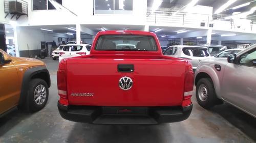 volkswagen amarok trendline 4x2 rojo retiro inmediato! stock