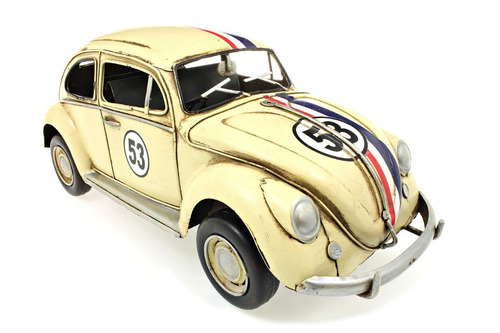 volkswagen beetle herbi #53 1970 1:12 tinplate collectables