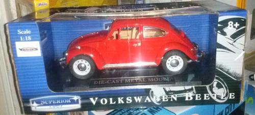 volkswagen beetle marca superior escala 1:18 a estrenar