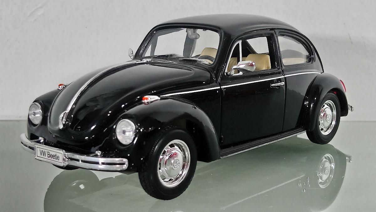 volkswagen beetle vocho negro escala  marca welly  en mercado libre
