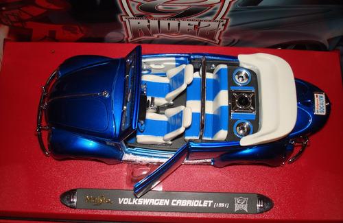 volkswagen coleccion cabriolet azul 1951 carro coleccion
