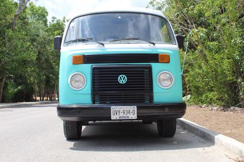 volkswagen combi 1993 azul turquesa con blanco bien cuidada