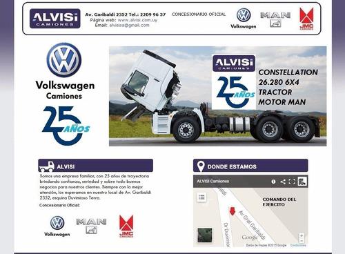 volkswagen constellation tractor 26.280 6x4 0km