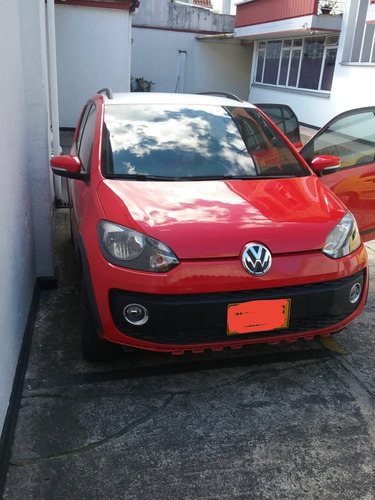 volkswagen cross up 1.0 2017 rojo y blanco