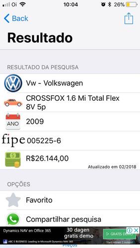 volkswagen crossfox 1.6 total flex 5p - 2009