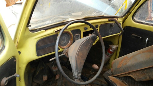 volkswagen fusca carroceria sem motor baixada no detran