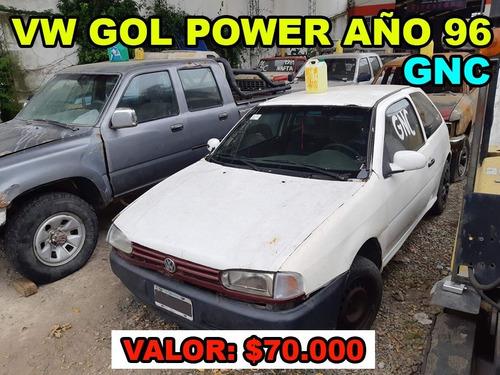 volkswagen gol power año 96 con gnc, con detalles
