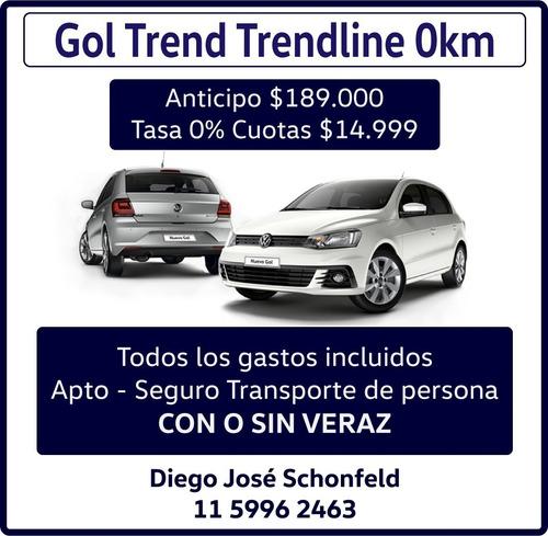 volkswagen gol trend 1.6 trendline 101cv te=11-5996-2463 0km