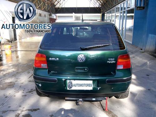 volkswagen golf tdi 1.9 verde 5 puertas 100% financiado