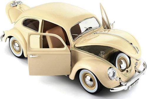 volkswagen kafer beetle 1955 1/18 burago diecast vocho