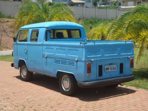 volkswagen kombi 1.6 cabine dulpa diesel 3p 1982 raríssima