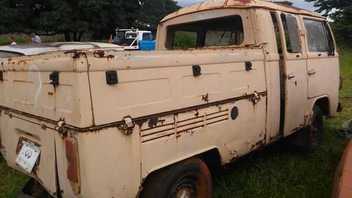 volkswagen kombi cabine dupla carroceria sem mecanica