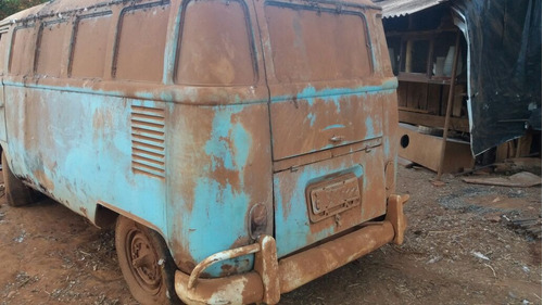 volkswagen kombi corujinha p/ restaurar com motor e docks