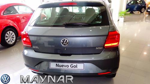 volkswagen nuevo gol trend 5pts entrega cuota 3/ fdv*