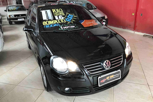 volkswagen polo sedan confortline 1.6 i-motion 2011 (preto)