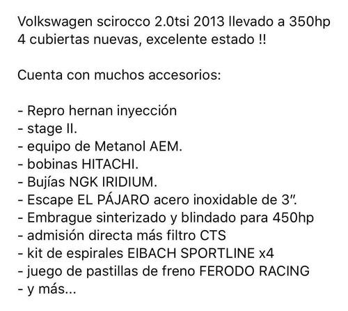 volkswagen scirocco 2.0 tsi 211cv 2013