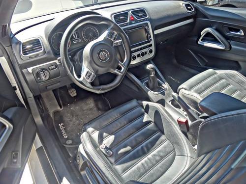 volkswagen  scirocco 2.0 tsi 211cv c/techo manual  blanco!