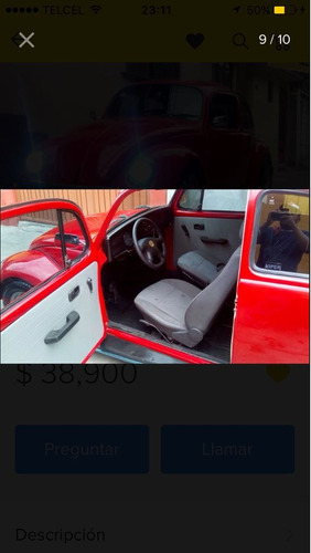 volkswagen sedan de coleccion 1978, precioso placas antigüo