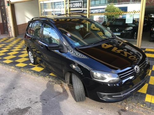 volkswagen suran 1.6 comfortline gnc negro excelente