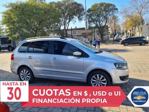 volkswagen suran 2012 gris plata 5 puertas
