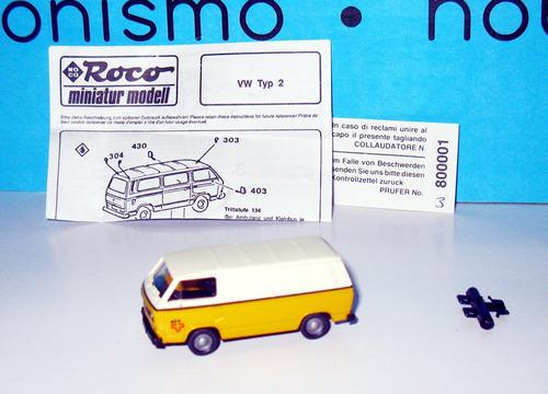 volkswagen t2 - escala 1/87 roco (austria)