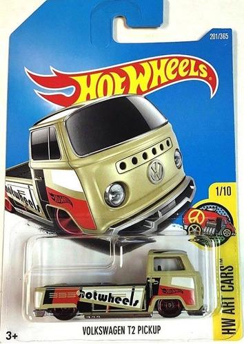 volkswagen t2 pickup kombi hot wheels art cars 201/365