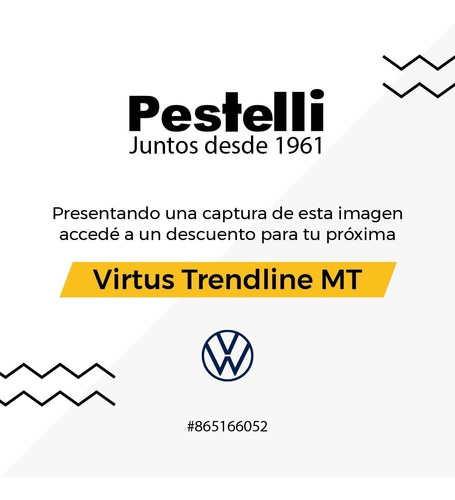 volkswagen virtus trendline manual 1.6 msi 2021 // pestelli
