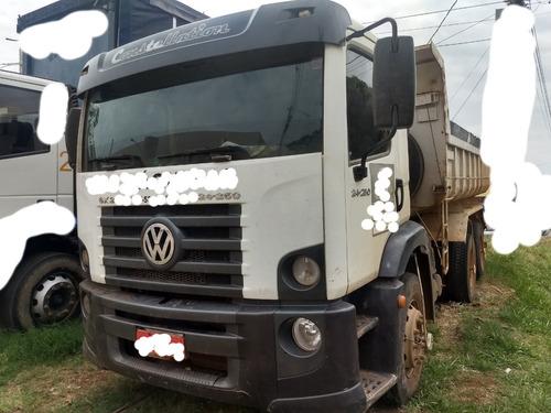 volkswagen vw 24250/09/10 branca caçamba