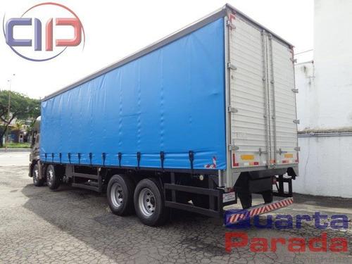 volkswagen vw 24280 prime 8x2 bitruck baú sider 2016 leito