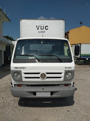 volkswagen vw 5-140, ano 2008, baú carga seca de 4.20 mts