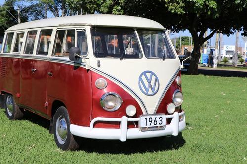 volkswagen vw bus kombi antiga ano 1963 luxo motor 1500cc