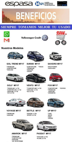volkswagen vw suran 1.6 highline my18 tope de gama oferta lb