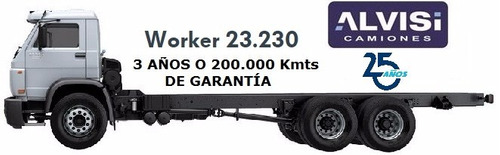 volkswagen worker doble eje 23.230 motor man 230 hp a b s 0k
